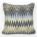 "G Home Collection Luxury Blue Big Chevron Pattern Pillow 18""X18"" - Thumbnail 2"