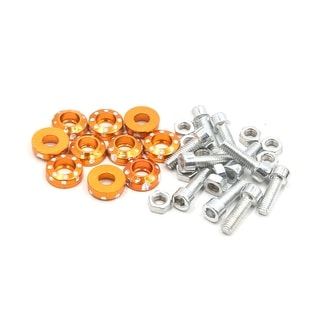 10Pcs M6 X 20mm Carved Style Motorcycle License Plate Bolts Screws Gold Tone