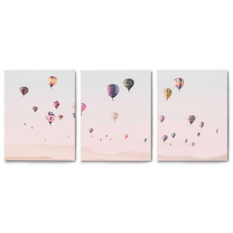 Canvas Triptych 3 Piece Set Turkish Hot Air Balloons by Sisi and Seb