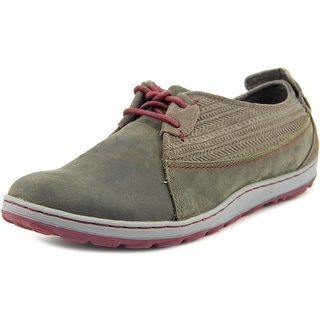 Merrell Ashland Tie Women Round Toe Leather Gray Sneakers