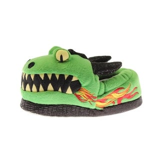 Trimfit Boys Dragon Embroidered Moccasin Slippers
