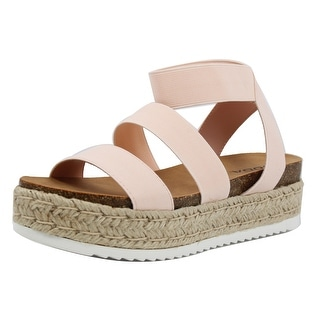 Link to Soda Women's Open Toe Two Band Ankle Strap Espadrille Wedge Similar Items in Women's Shoes