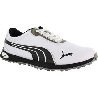 Puma Men's Biofusion Spikeless White/Black/Silver Golf Shoes 187090-01