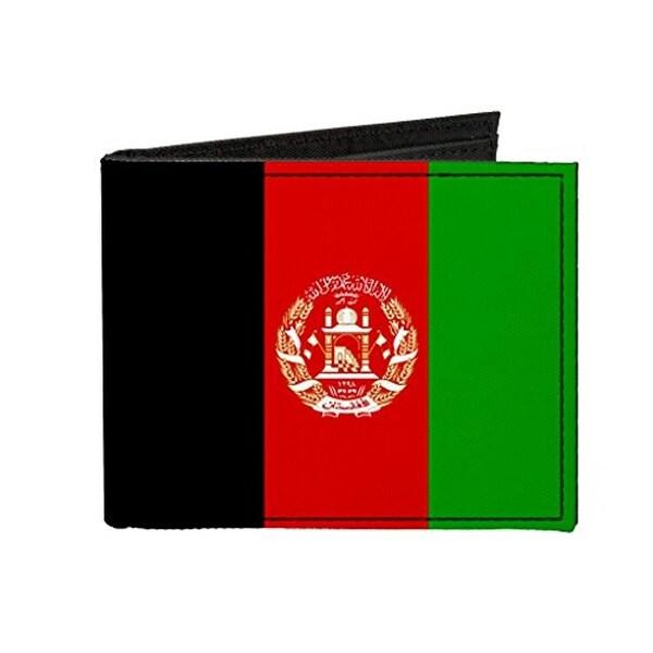 Buckle-Down Canvas Bi-fold Wallet - Afghanistan Flag Accessory