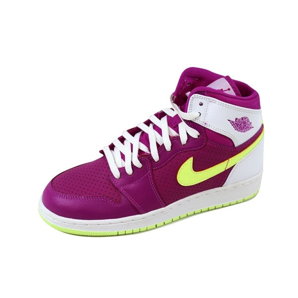 c401b8d99898 Nike Grade-School Air Jordan 1 Retro High GG Fuchsia Flash/Liquid Lime-
