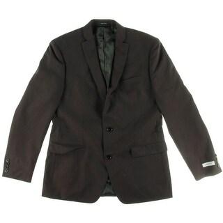Calvin Klein Mens Wool Solid Two-Button Blazer - 42R