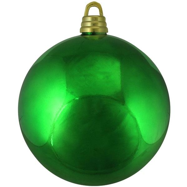 "Shiny Xmas Green Commercial Shatterproof Christmas Ball Ornament 12"" (300mm)"