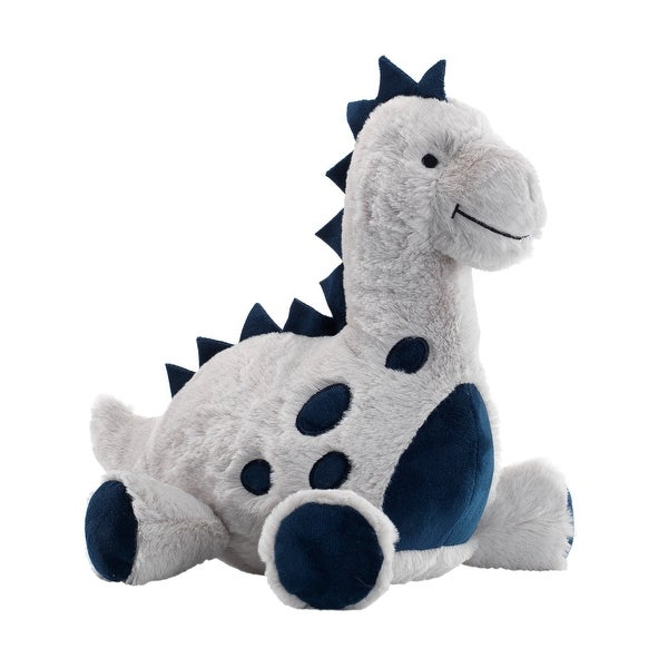 Shop Lambs Amp Ivy Baby Dino Blue Gray Plush Dinosaur Stuffed Animal Toy Spike Free Shipping