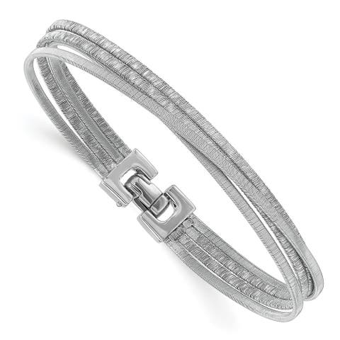 Sterling Silver Rhodium-plated High Polished Bracelet by Versil