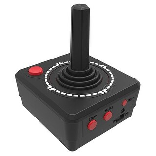 Atari 2600 Handheld Joystick - Play 10 Classic Games - Black