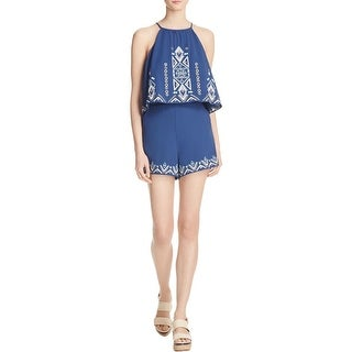 Parker Womens Romper Embroidered Tiered