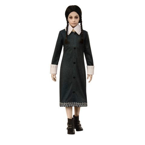 Girls Wednesday Addams Family Halloween Costume