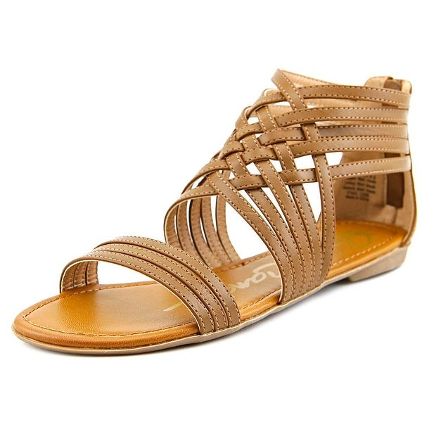 Rock & Candy Leeana Women Open Toe Leather Tan Gladiator Sandal