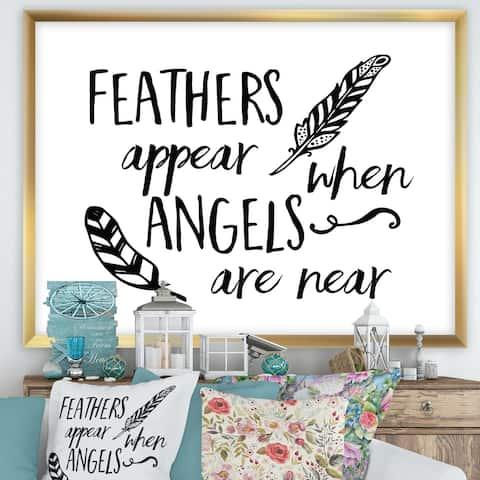 Designart 'Angels Appear' Cottage Framed Art Print