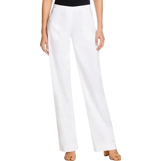 Elie Tahari Womens Cady Trouser Pants Pointelle Wide Calf
