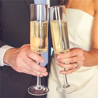 Cathys Concepts Mr. & Mrs. Contemporary Toasting Flutes - Set of 2