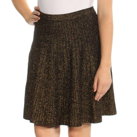 a4577cd9a6 GRACE ELEMENTS Womens Black Above The Knee Circle Skirt Size  L