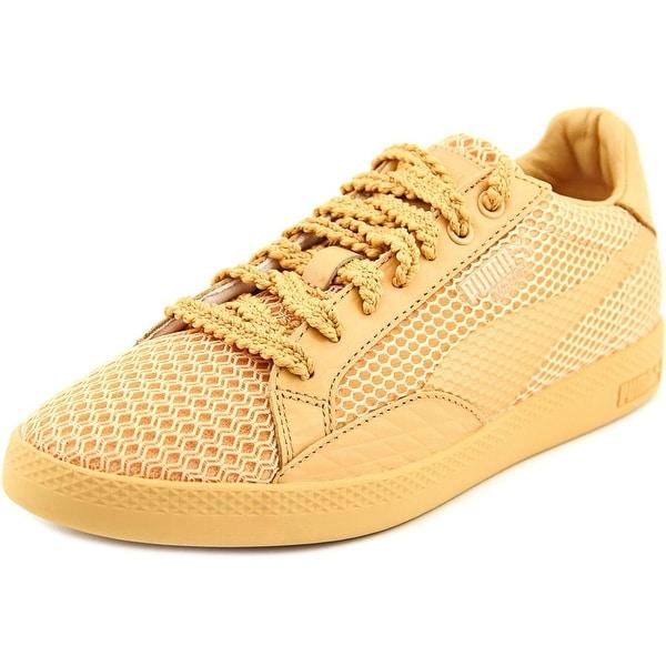 Puma Match Lo Stutter Stripe Wn's Women Round Toe Canvas Tan Sneakers