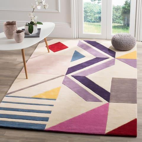 Safavieh Handmade Fifth Avenue Yesenia Mid-Century Modern Wool Rug