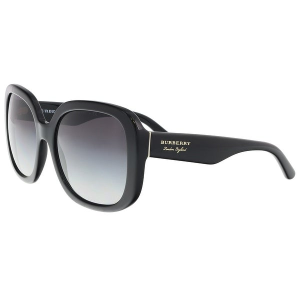 92aabce155 Shop Burberry BE4259 30018G Black Square Sunglasses - 56-18-140 ...