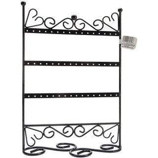 "Metal Jewelry Display Stand 9""X12""X4""-Black - Black"