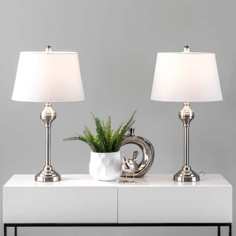"""nuLOOM Cannes 26"""" Metal Table Lamp Set - 14""""W x 14""""D x 25.5""""H"""