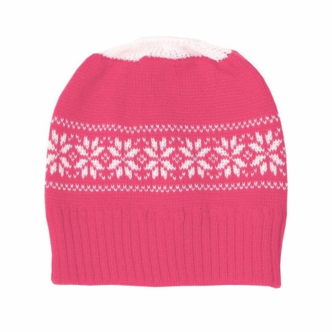 Women's Pink Ponytail Cold Weather Running Hat
