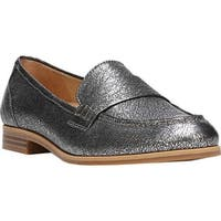 Naturalizer Women's Veronica Loafer Silver Metallic Crackle Leather