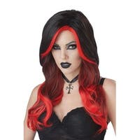 California Costumes Black and Red Fatal Beauty Adult Wig - Black/red