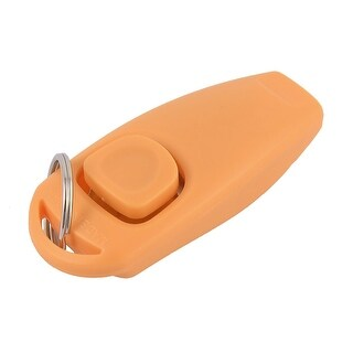 Pet Dog Doggie Training Trainer Helper Clicker Whistle Combination Orange