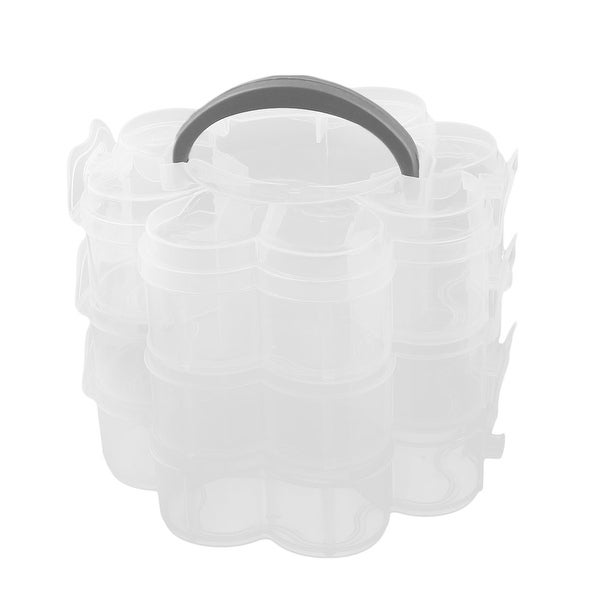 Outdoor PP 15 Compartments Tablet Pill Organizer Dispenser Box Case Clear