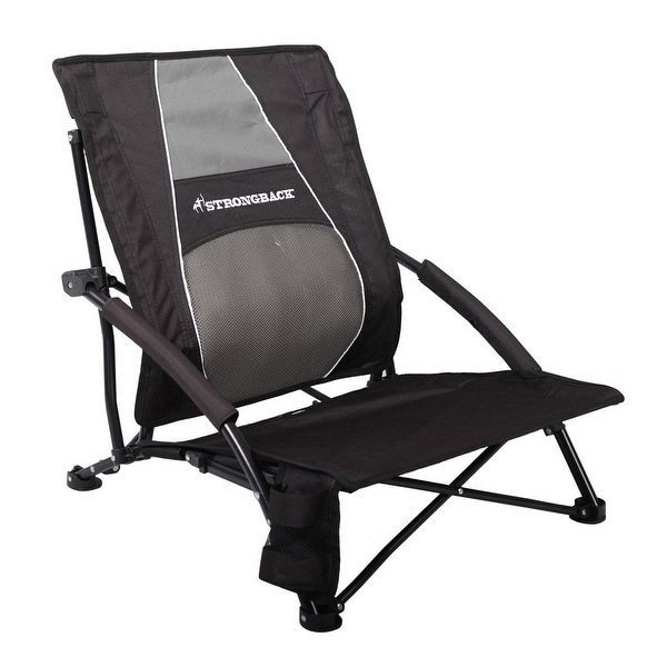 Shop Strongback Low Gravity Folding Beach Chair with ...