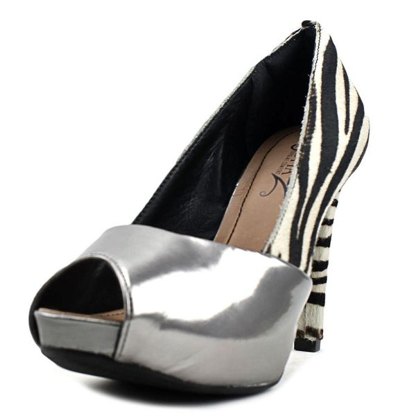 Sofia Z Tatiana Women Peep-Toe Synthetic Multi Color Heels