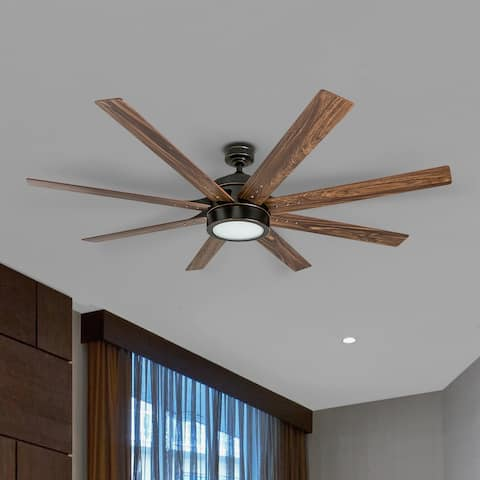 Honeywell Xerxes 62-inch Oil-rubbed Bronze LED 8-blade Ceiling Fan