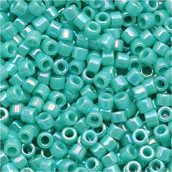 Miyuki Delica Seed Beads 11/0 'Opaque Sea Opal AB' DB1576 7.2 Grams