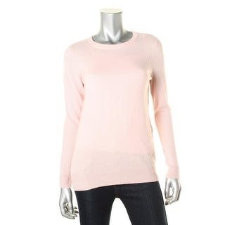 Private Label Womens Cashmere Crew Pullover Sweater - S