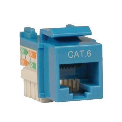 Tripp Lite N238-001-Bl Cat6/Cat5e Rj45 Blue 110 Punch Down Keystone Jack Black