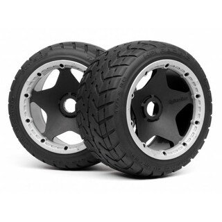 HPI Racing Mounted Tarmac Buster Rib M Compound Tire for Baja 5B