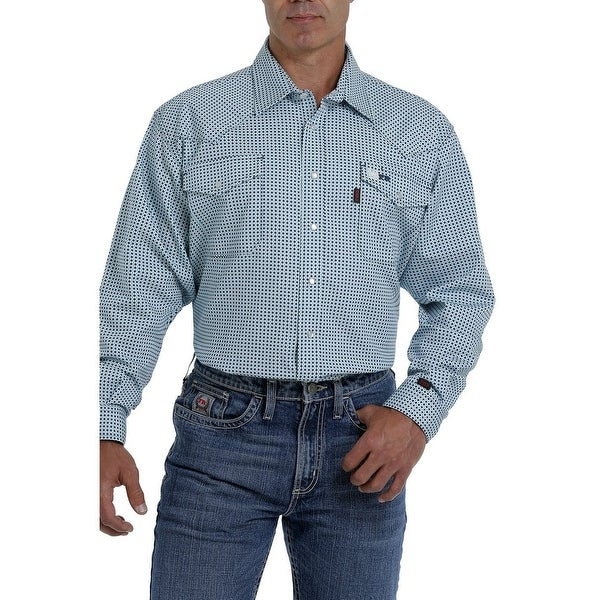 Cinch Work Shirt Mens L/S Flame Resistant Micro Geo Print. Opens flyout.