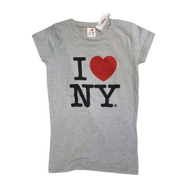 I Love NY New York Short Sleeve Screen Print Heart T-Shirt White 2Xl