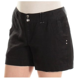 INC Womens Black Curvy Fit Short Size: 2XS