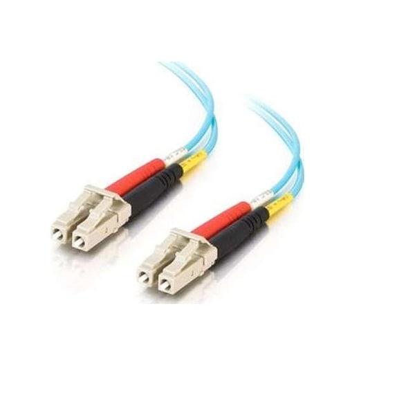C2g - C2g 5M Lc-Lc 10Gb 50/125 Duplex Multimode Om3 Fiber Cable (Taa Compliant) - Aqua