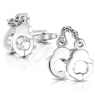 Bling Jewelry Secret Shades Mens Obsession Handcuff Cufflinks Steel Plated