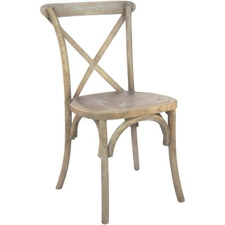 Solid Elmwood Grain X-Back Chair