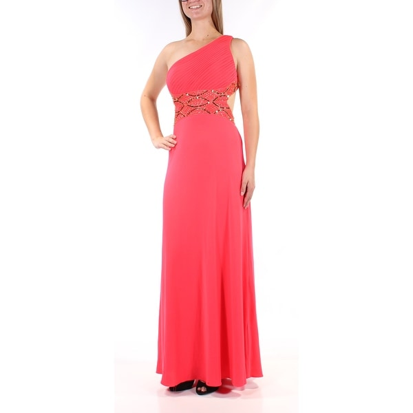 Shop BETSEY JOHNSON  239 Womens New 1046 Coral Beaded Sequined Sleeveless  Dress 8 B+B - Free Shipping Today - Overstock - 21544367 a1d55e9f1