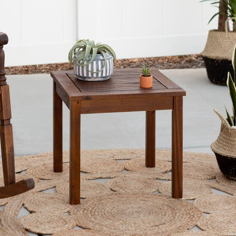 Surfside 20-inch Acacia Outdoor Side Table by Havenside Home