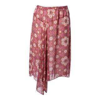 Vince Camuto Womens Plus Long Printed Straight Skirt