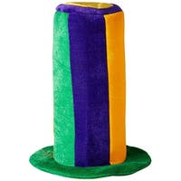 Mardi Gras Tall Costume Hat Adult One Size - Green
