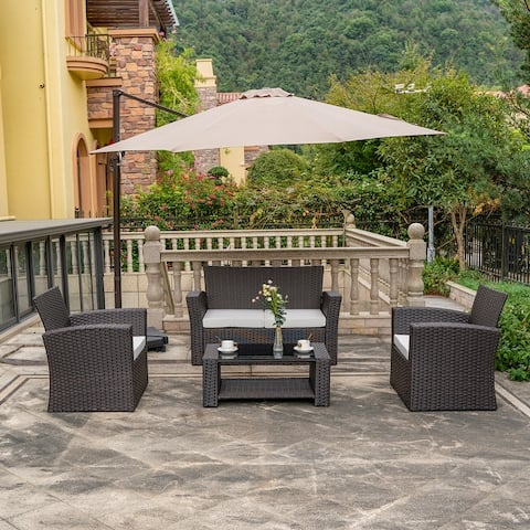 Grandview Outdoor 4-piece Patio Conversation Set with Cushions