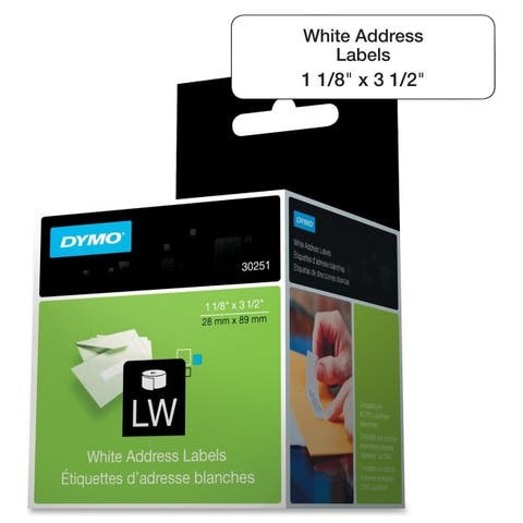 Dymo 30251 labels - address labels - white - 1.1 in x 3.5 in